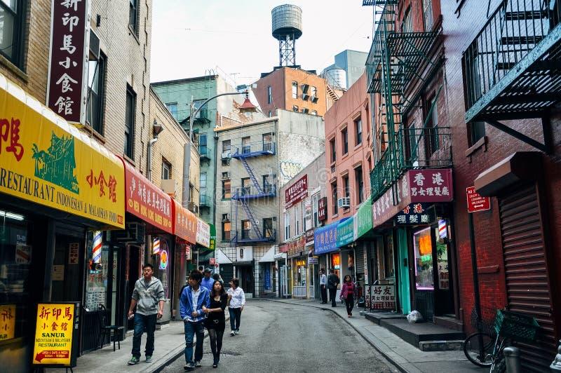 Calle de Doyers en Manhattan fotos de archivo