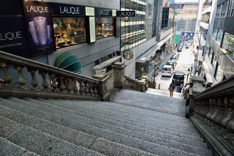 Calle de Duddell, Hong Kong fotos de archivo libres de regalías