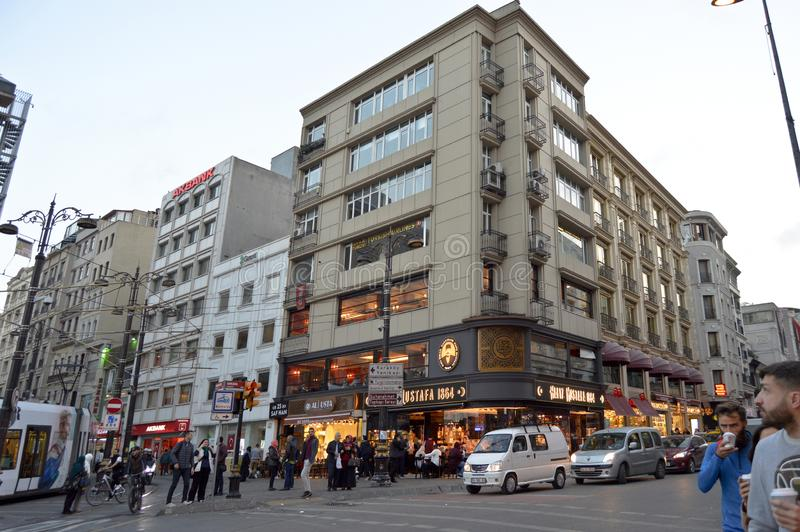 Calle de Estambul Sirkeci Ankara foto de archivo