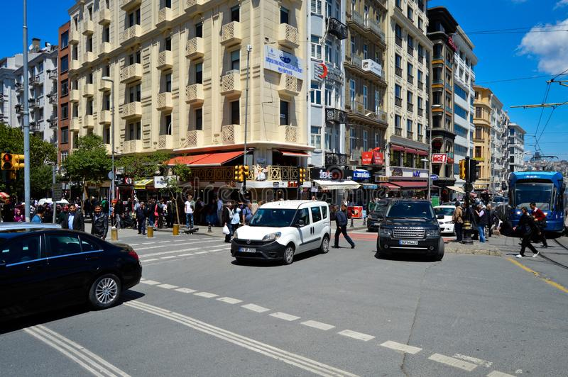 Calle de Estambul Sirkeci Ankara imágenes de archivo libres de regalías