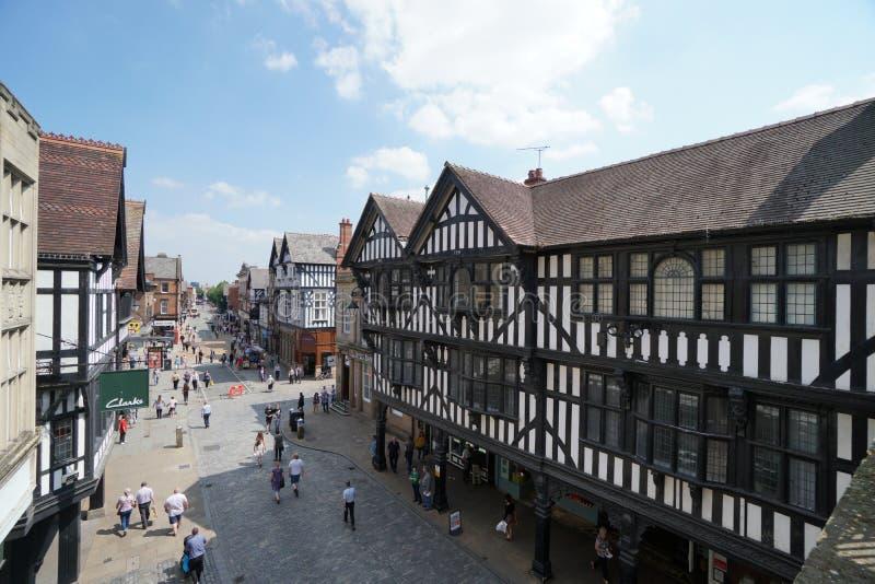 Calle de Foregate, Chester imagenes de archivo