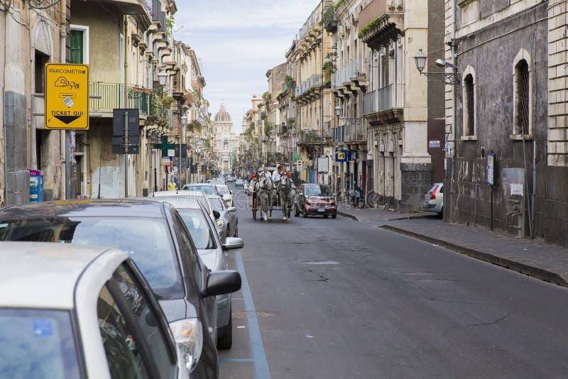 Calle de Giuseppe Garibaldi fotos de archivo