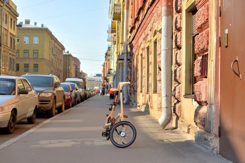 Calle de Goncharnaya en el centro de St Petersburg foto de archivo