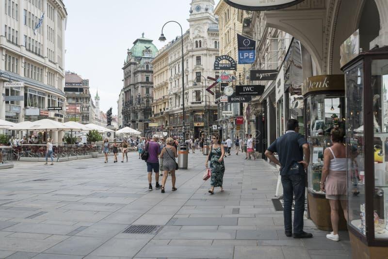 Calle de Graben en Viena fotos de archivo libres de regalías