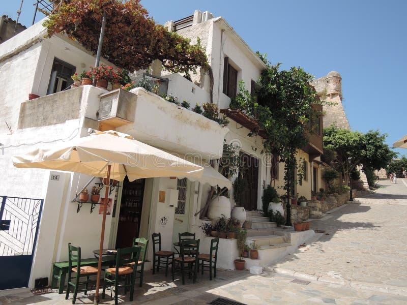 Calle de Grecia fotografía de archivo libre de regalías