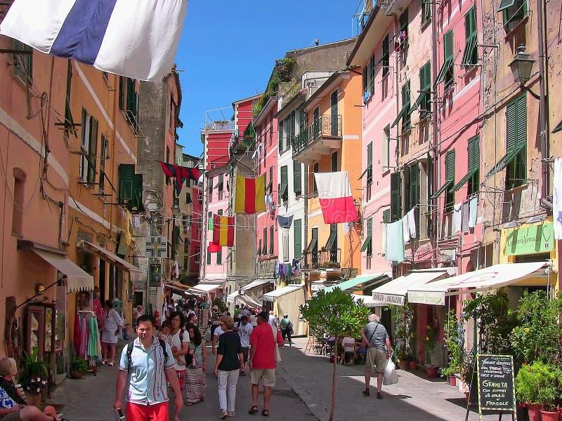 Calle 2 de Italia Vernazza Roma fotografía de archivo libre de regalías