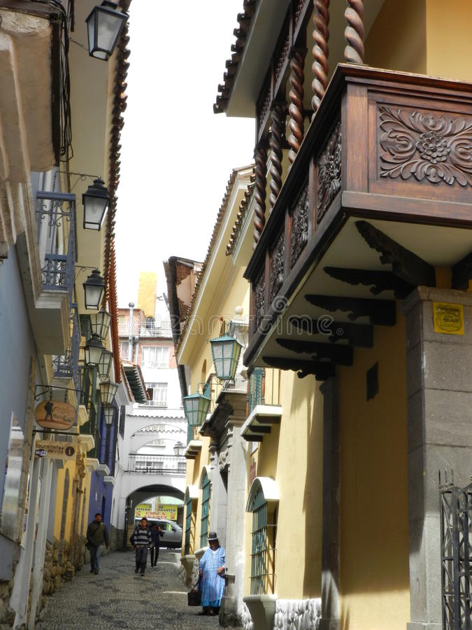 Calle de Jaén imagenes de archivo