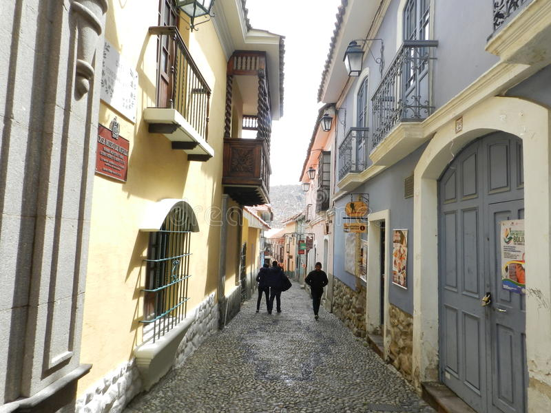 Calle de Jaén foto de archivo