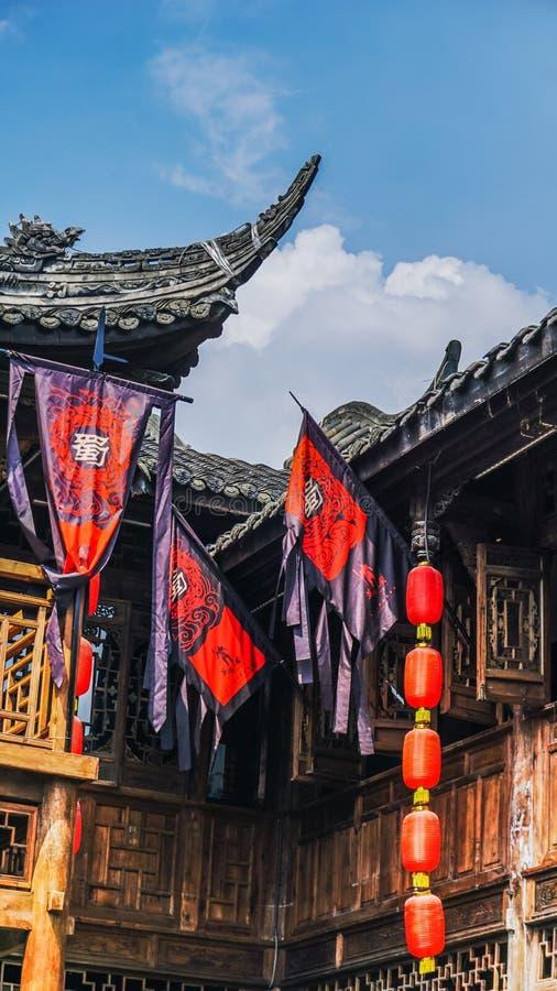 Calle de Jinli en Chengdu, Sichuan, China imagen de archivo