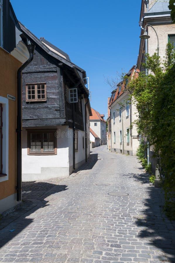Calle Visby medieval de la bobina fotografía de archivo