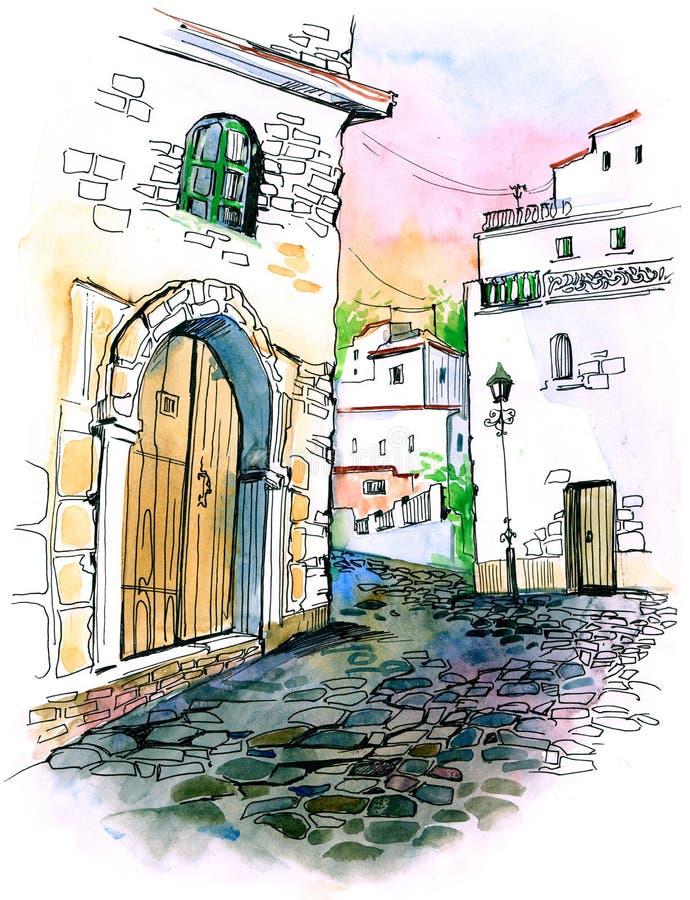 Calle de la ciudad libre illustration