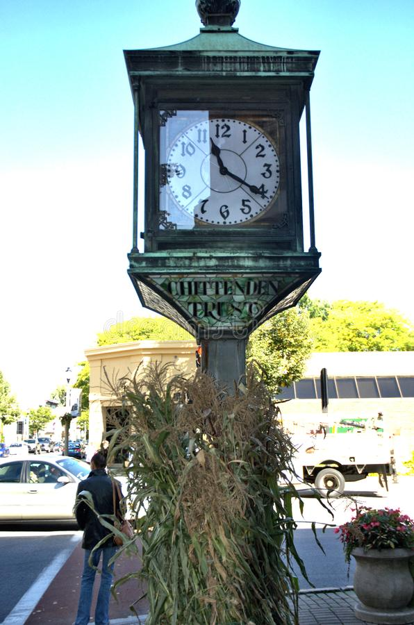 Calle de la ciudad de Bennington Vermont los E.E.U.U. fotografía de archivo libre de regalías