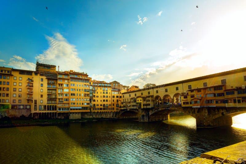 Calle de la ciudad de Art Florence Old; Italia foto de archivo libre de regalías
