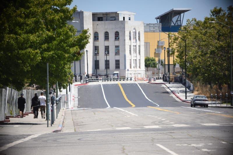 Calle de la ciudad de Oakland fotografía de archivo libre de regalías