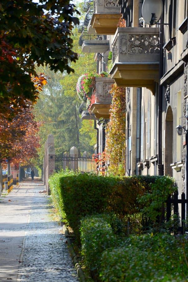 Calle de la ciudad en otoño imagen de archivo