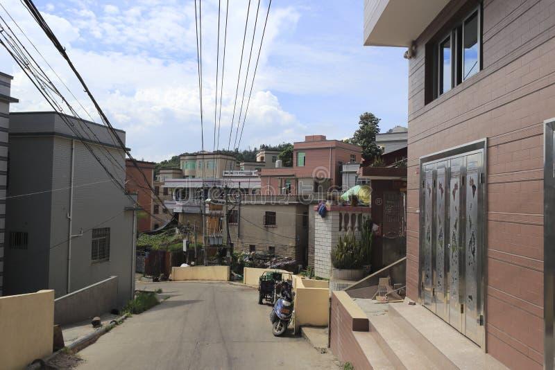 Calle de la isla del wuyu foto de archivo