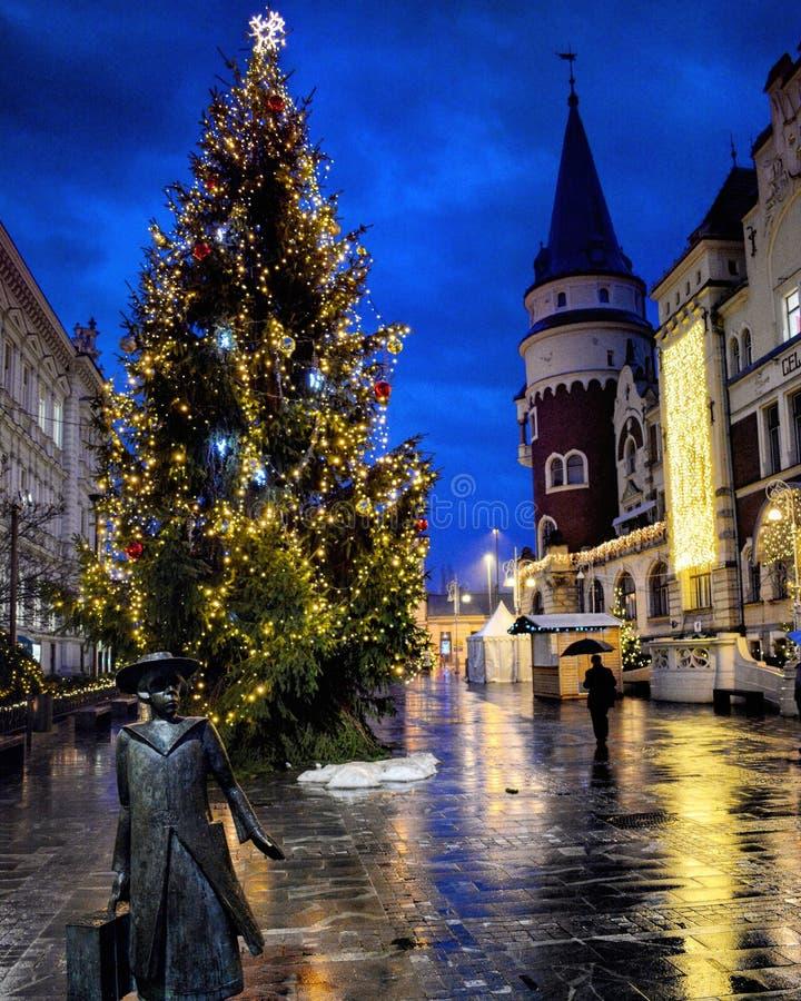 Calle de la Navidad fotos de archivo