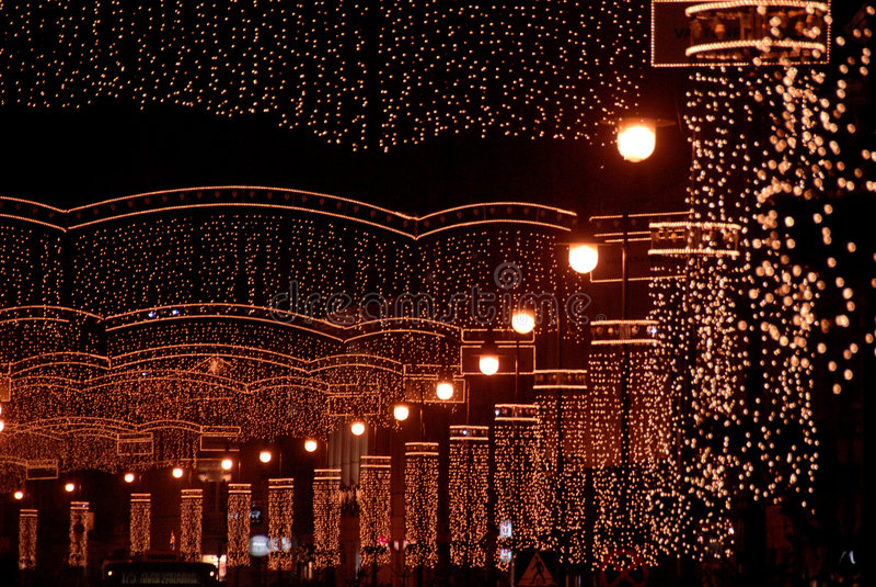 Calle de la Navidad imágenes de archivo libres de regalías
