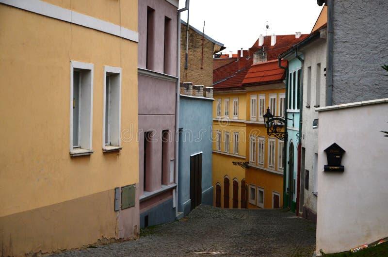 Calle de la República Checa de la visión fotografía de archivo