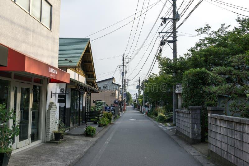 Calle de las compras de Yufuin imagen de archivo