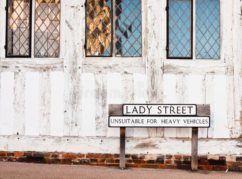 Calle de Lavenham imágenes de archivo libres de regalías