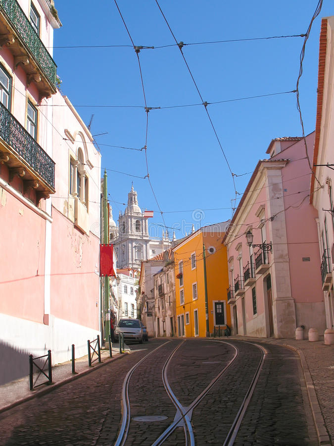 Calle de Lisboa fotografía de archivo libre de regalías
