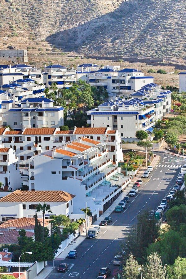 Calle de los cristianos del Los Tenerife Islas Canarias españa fotos de archivo libres de regalías