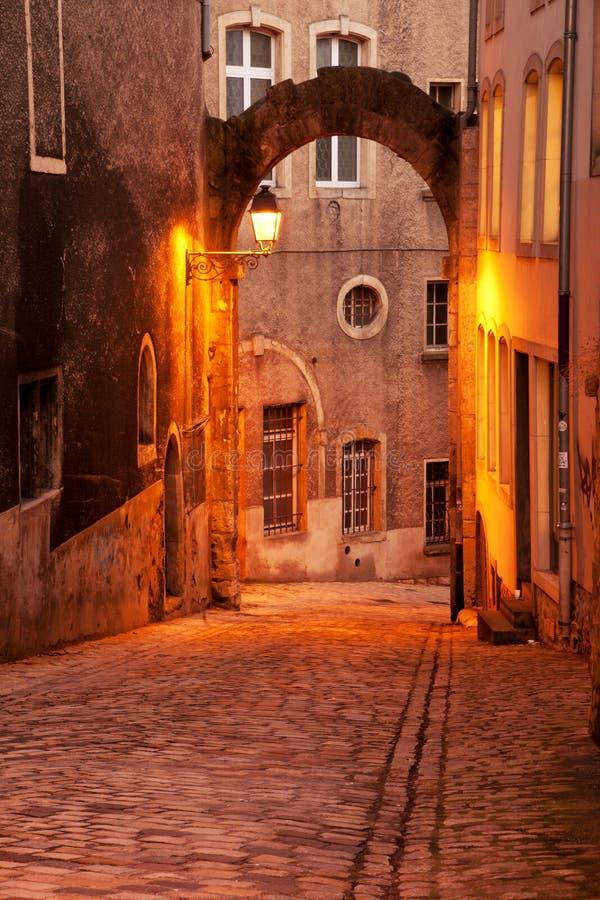 Calle de Luxemburgo fotografía de archivo
