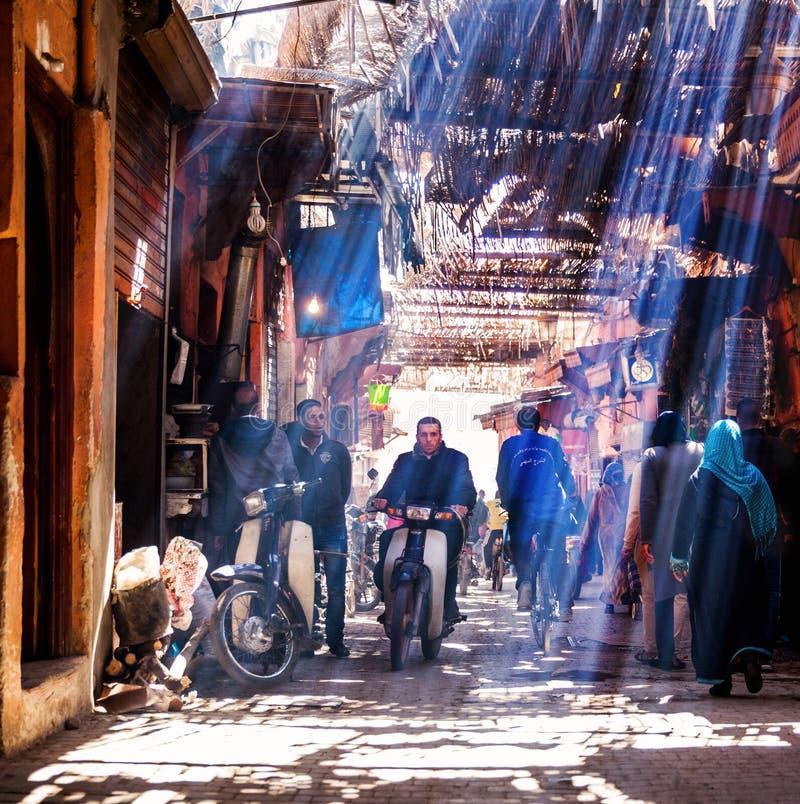 Calle de Marrakesh imagenes de archivo