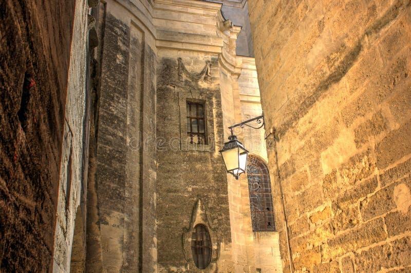 Calle de Medevial en Uzes imagenes de archivo