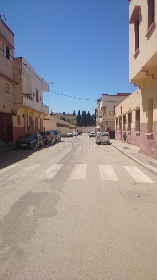 Calle de Meknes, estado de Palestina del Maghreb foto de archivo