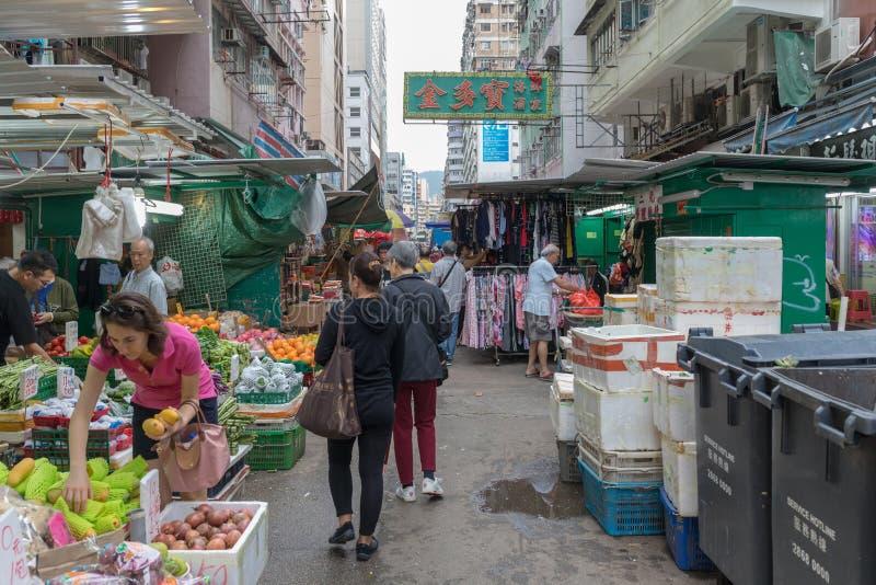 Calle de mercado local fotos de archivo