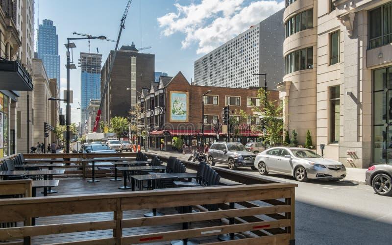 Calle de Montreal Stanley imagenes de archivo