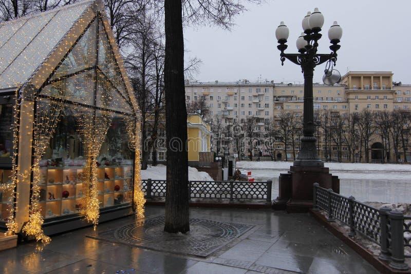 Calle de Moscú foto de archivo