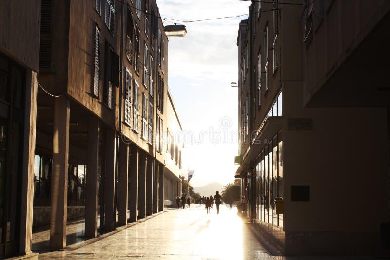 Calle de Nicole Matafara Historic en Zadar Croacia fotos de archivo libres de regalías