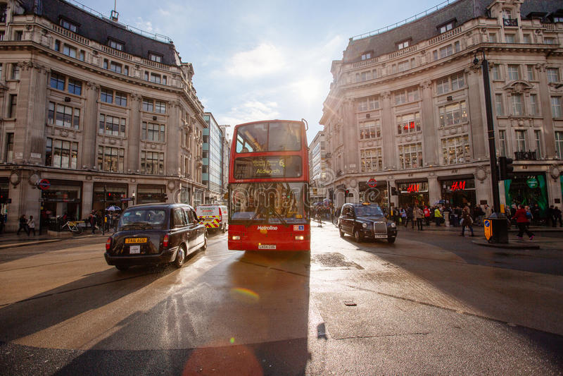 Calle de Oxford, Londres, 13 05 2014 fotos de archivo