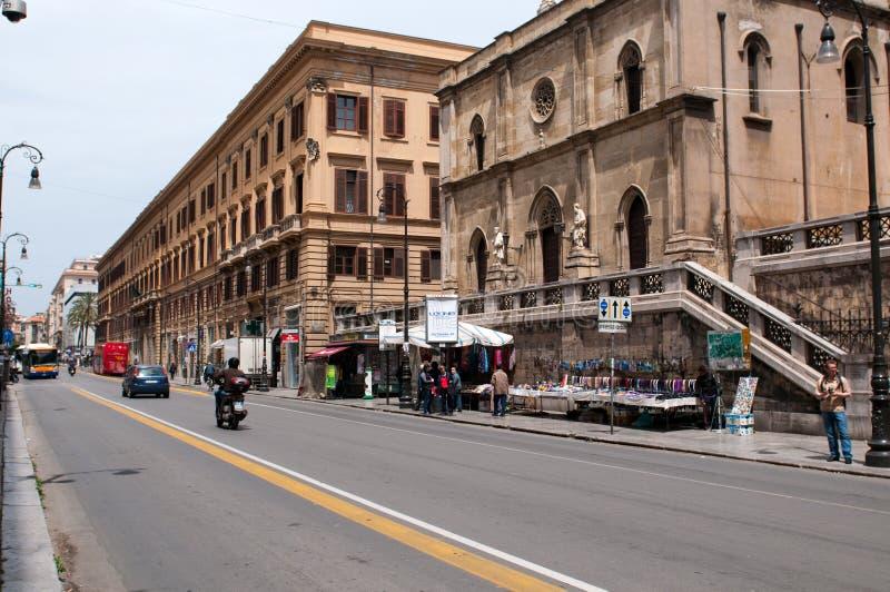 Calle de Palermo fotografía de archivo libre de regalías