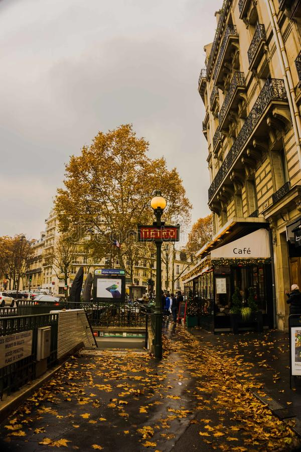 Calle de París fotos de archivo libres de regalías
