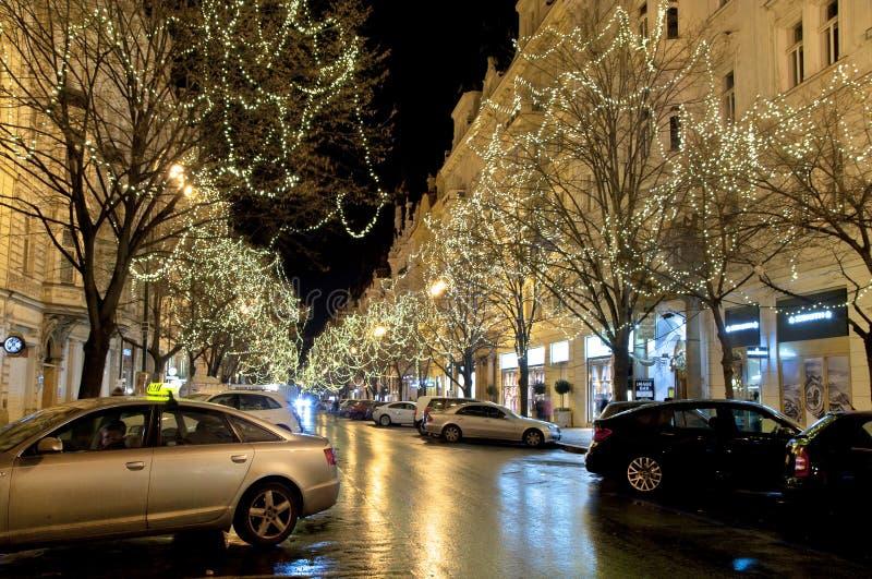 Calle de Parizska. Praga foto de archivo