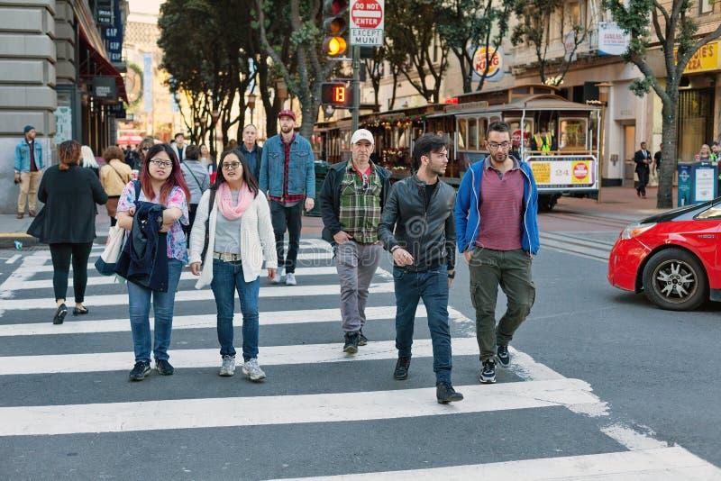 Calle de Powell, San Francisco, Estados Unidos foto de archivo