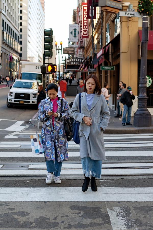 Calle de Powell, San Francisco, Estados Unidos imagenes de archivo
