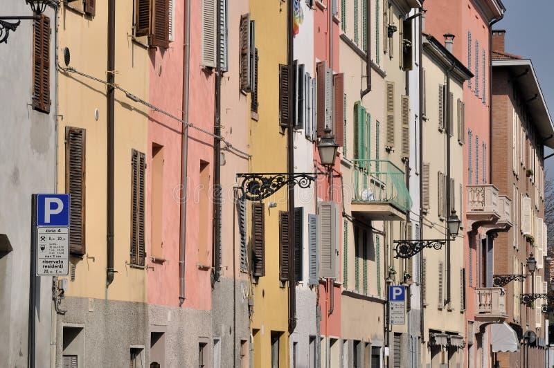 Calle de Saffi, Parma foto de archivo