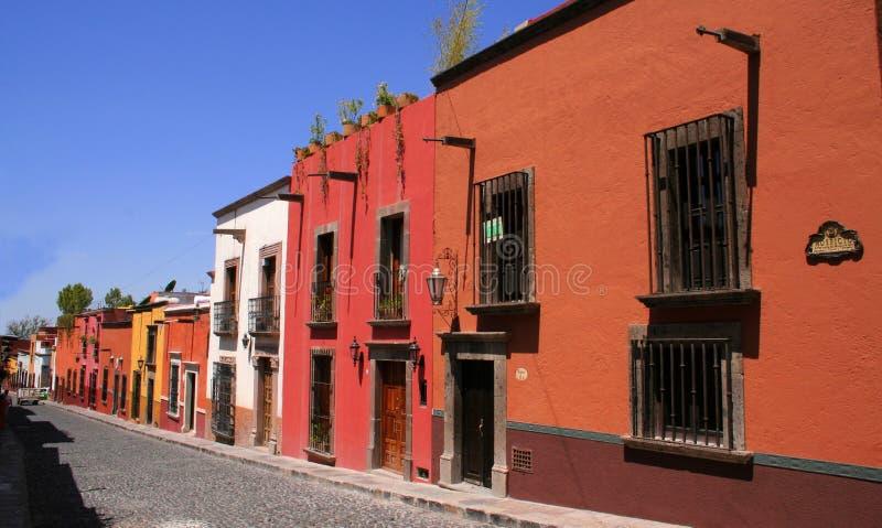 Calle de San Miguel de Allende fotografía de archivo libre de regalías