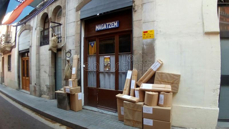 Calle 2017 de Sants Barcelona das festas Sagunt fotografia de stock royalty free