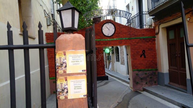 Calle 2017 de Sants Barcelona das festas Sagunt fotos de stock royalty free