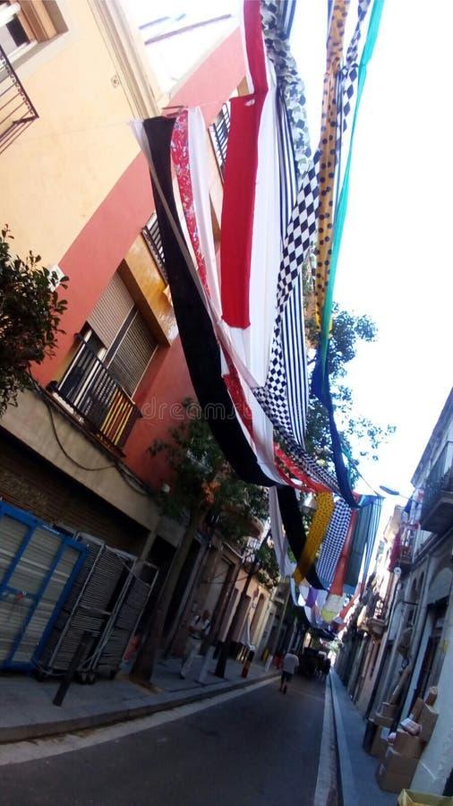 Calle 2017 de Sants Barcelona de las fiestas Sagunt imágenes de archivo libres de regalías