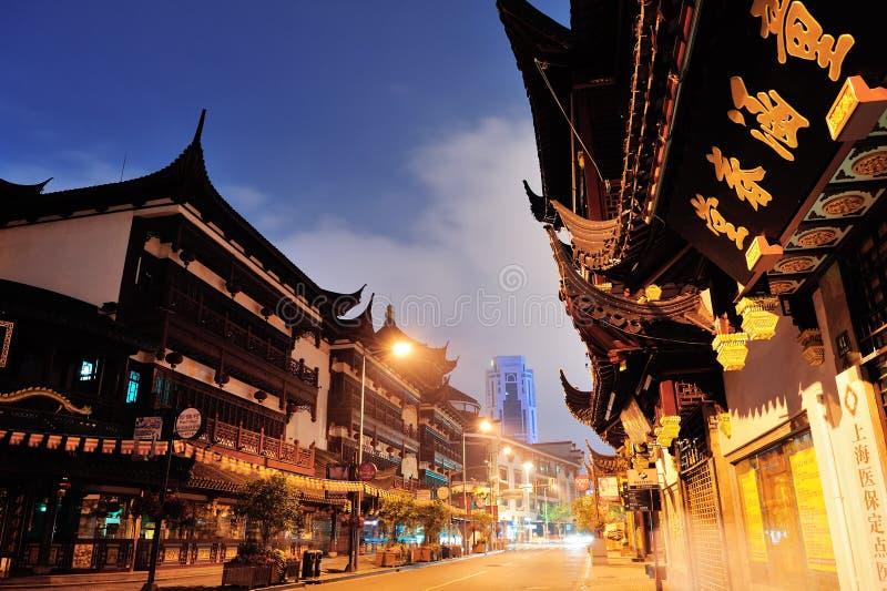 Calle de Shangai Chenghuangmiao foto de archivo libre de regalías