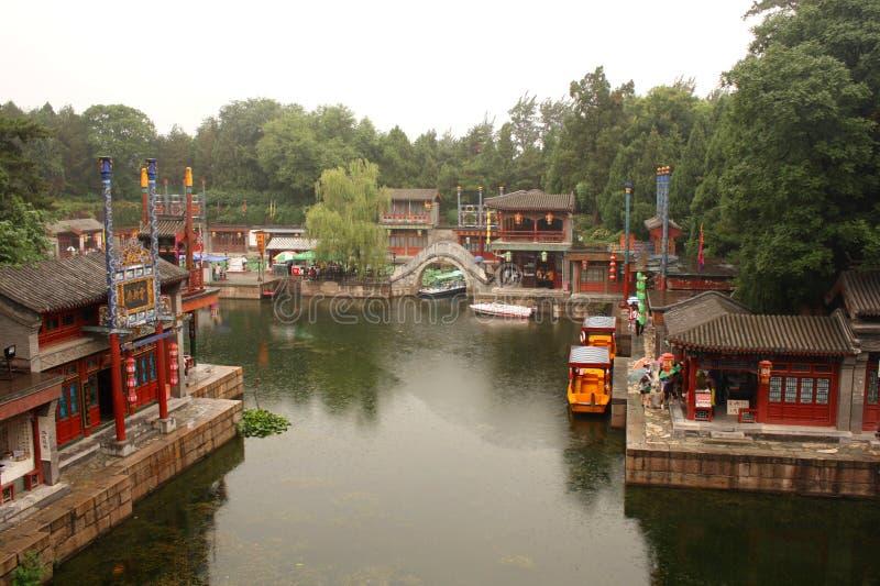 Calle de Suzhou en el palacio de verano, Pekín imágenes de archivo libres de regalías