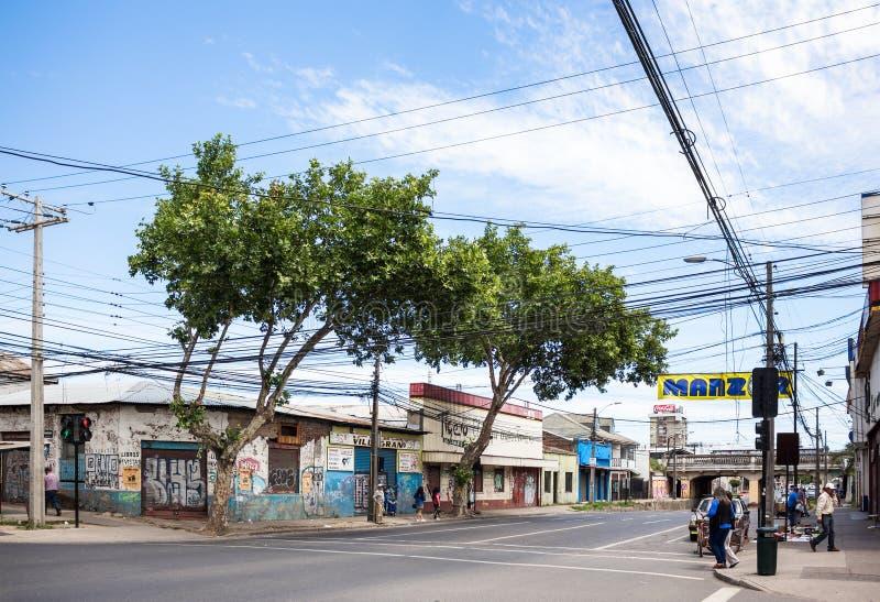 Calle de Talca imagen de archivo
