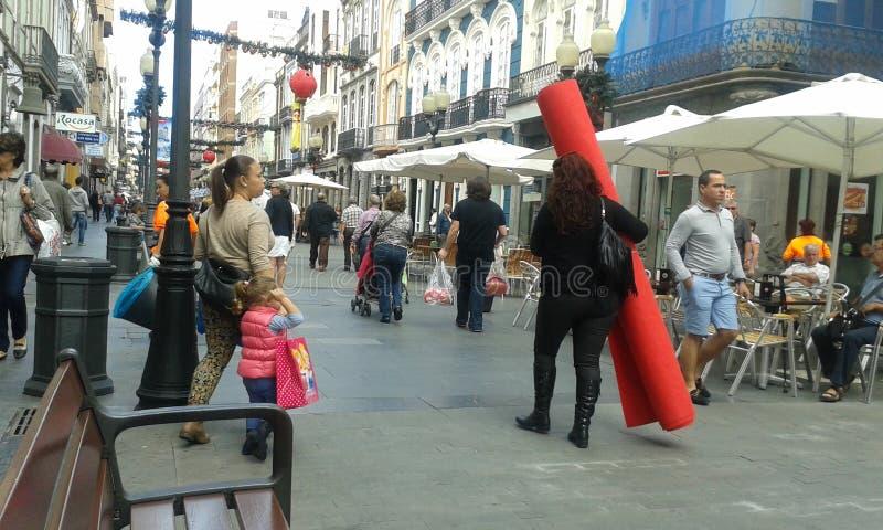 Calle de Triana imágenes de archivo libres de regalías